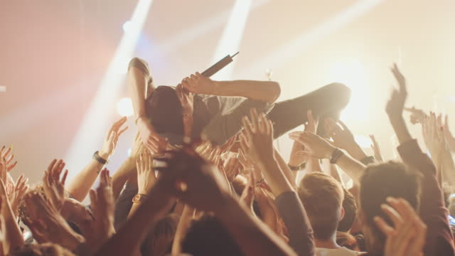 Stage diving video