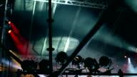Stage lights at concert video