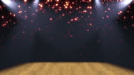 Stage Lights Glitter Background Loop video