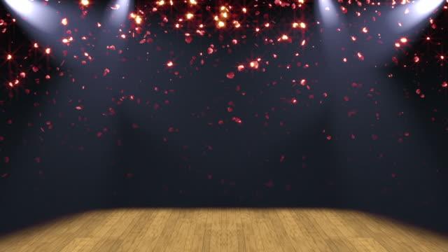 Stage Lights Glitter Background Loop video