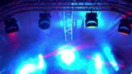 Stage lights. video