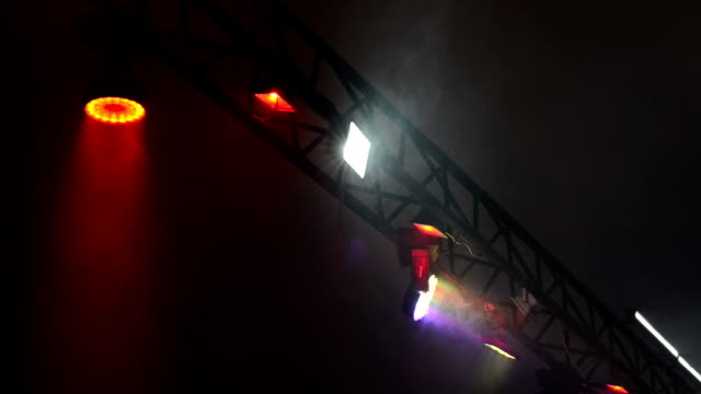 Stage lights with smoke video