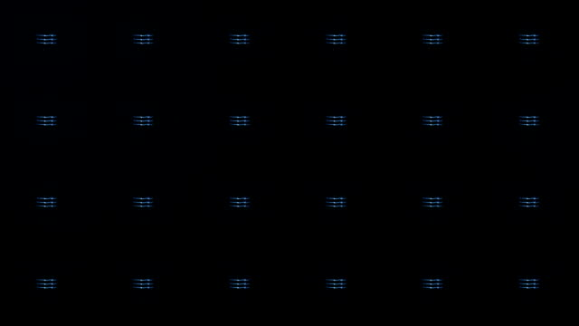 Stage lights, with sound. Square. Close-up. Blue. video