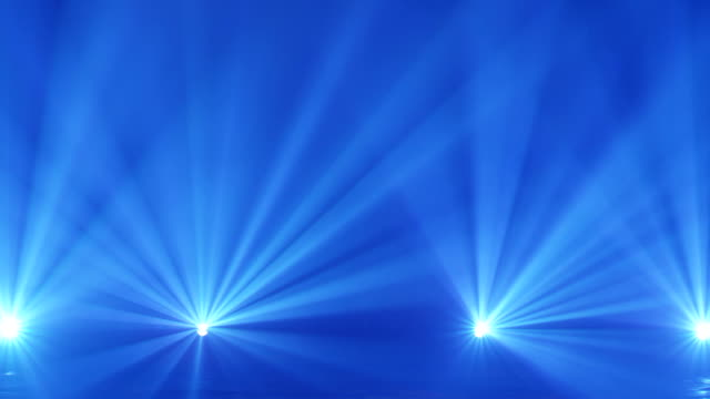Stage Spotlight with Laser rays. Real Backgraund. Laser stage lights and spot lights concert. video