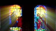 Stained glass window. video