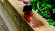 Staining Wood Wall video