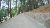 Stairs in citys park video