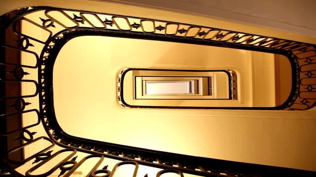 Stairs of an Haussmannian building, Rue de la République, Marseille, France video