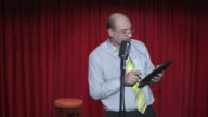 HD: Stand Up Comedian Using Digital Tablet video