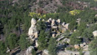 Standing Stones In Curt Gowdy State Park - Aerial View - Wyoming, Laramie County, United States video