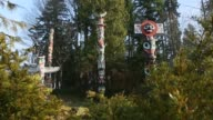 Stanley Park Totems Camera Move, Vancouver video