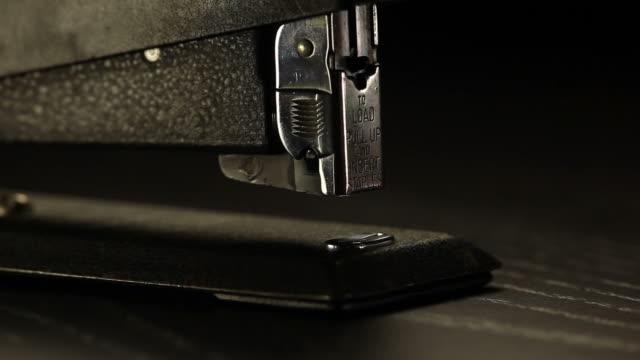Stapler close-up video