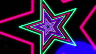 Star Colorful Neon Streaks Loop Backgrounds video