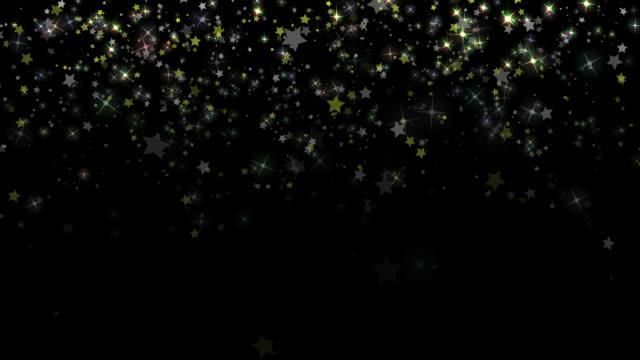 Star Confetti Background Loop video