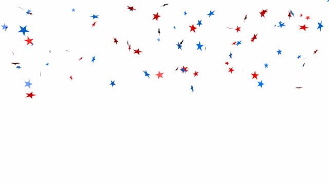 Star glitter confetti background video