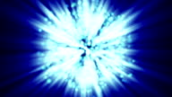 Star of David from glowing blue particles loop video