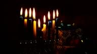 Star of David Hanukkah menorah video