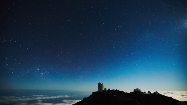 Star time lapse, milky way galaxy video