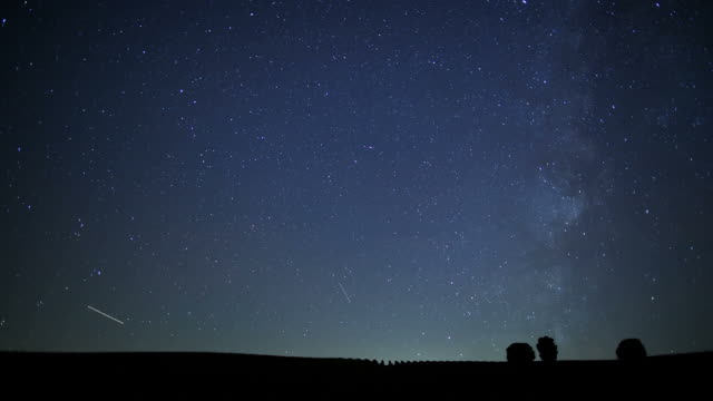 Star time lapse over a farm video