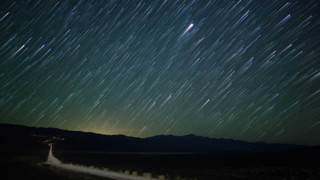 Star time lapse over Death Valley video