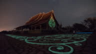star trail at Sirindhorn Wararam Phu Prao Temple (Wat Phu Prao) video