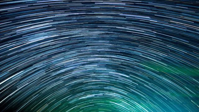 Star Trails moving in the night. video