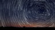 Star Trails Time-lapse Stunning Cosmos Beautiful night sky video