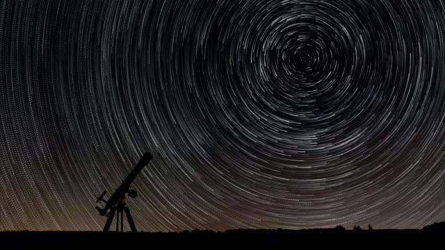 Star Trails Time-lapse Telescope Astronomy Stunning Cosmos  North Star video