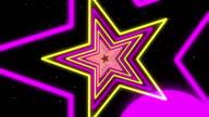 Star  Violet Yellow Neon Streaks Loop Backgrounds video