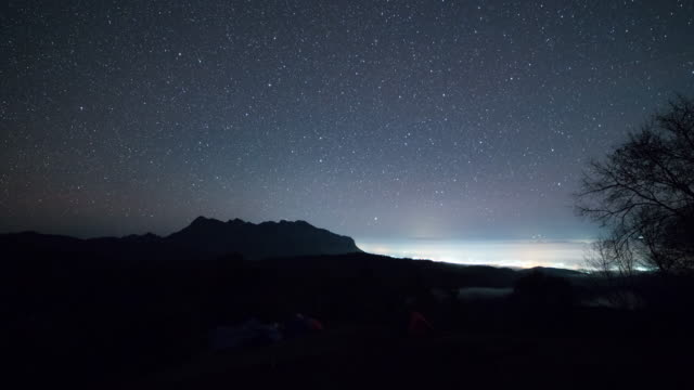 Starry night Time lapse at doi lunag chiang dao video