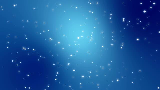 Starry sky animated background video