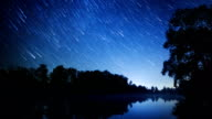 Starry sky time lapse video