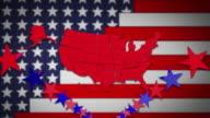 USA Stars and Stripes video