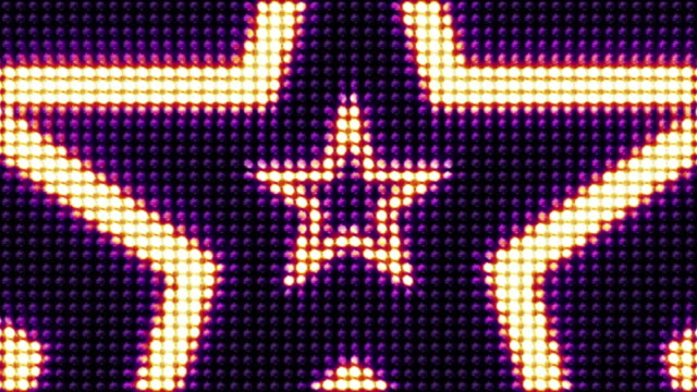 Stars Bulb Lights Background, Loop, 4k video