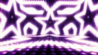 Stars Bulb Lights Room Background, Loop, 4k video