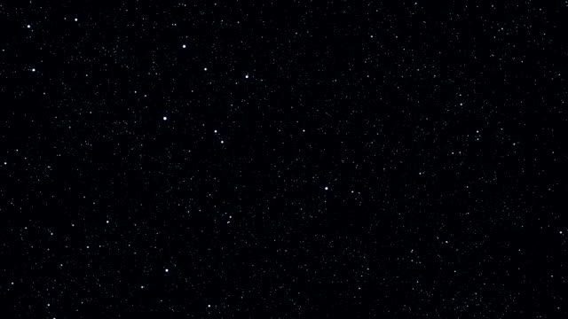 Stars in the sky. Looped animation. Beautiful night with twinkling flares video