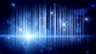 stars lights and vertical stripes blue loop background video