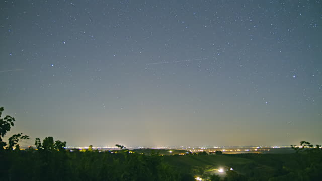 HD TIME-LAPSE: Stars Over Dusk Cityscape video