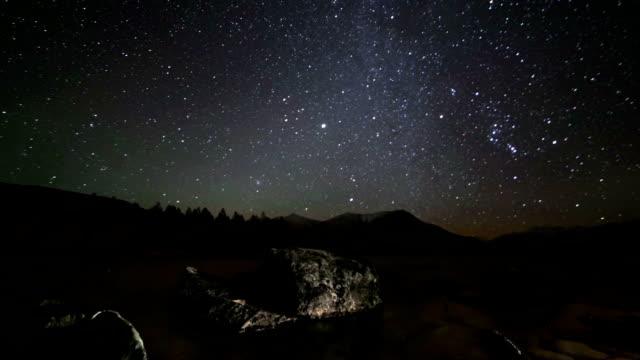 Stars timelapse. Stock video video