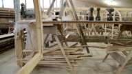 Start of construction of a boat at the shipyard video