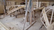 Start of construction of boats at the shipyard video