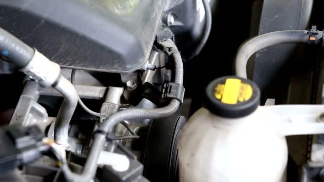 Starting car engine video