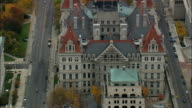 State Capital - Aerial View - New York,  Albany County,  United States video