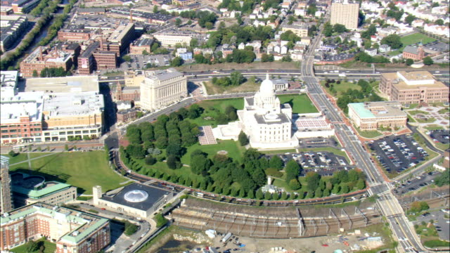 State Capital  - Aerial View - Rhode Island, Providence County, United States video