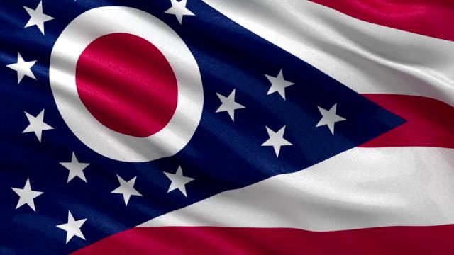 US state flag of Ohio - seamless loop video