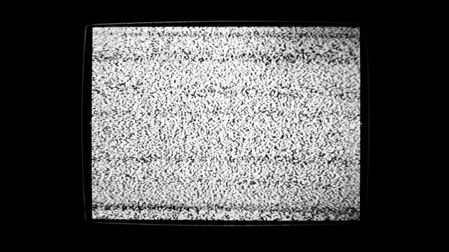 Static Noise Of Flickering Detuned TV Screen video