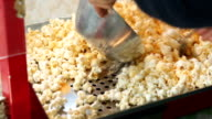 A static shot of a commercial popcorn machine. video