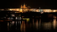 Static Shot of the Castle and the Vltava River in Prague, Czech Republic (Czechia) video