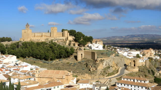 Static view on Alcazaba fortress in Antequera video