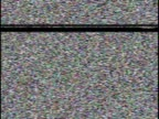 TV Static with stereo whitenoise video